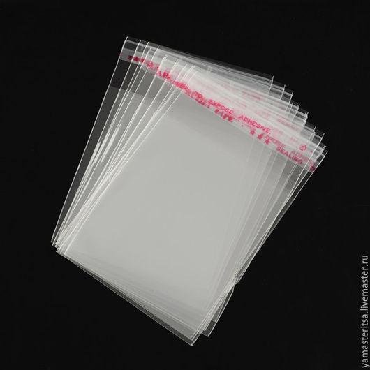 Упаковка ручной работы. Ярмарка Мастеров - ручная работа. Купить (10 шт) Пакетики с клеевым краем 5х7 см. Handmade.
