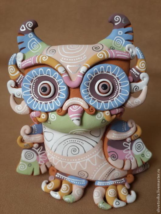 Подарочные наборы ручной работы. Ярмарка Мастеров - ручная работа. Купить Сова. Скульптурка керамическая. Роспись по керамике.. Handmade.