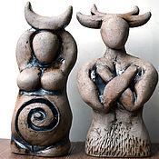 Фен-шуй и эзотерика handmade. Livemaster - original item Horned God and Moon Goddess - wiccan altar statues, set of 2. Handmade.