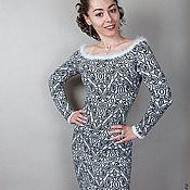 """Одежда ручной работы. Ярмарка Мастеров - ручная работа теплое платье """"Графика"""". Handmade."""