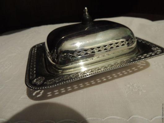 Винтажная посуда. Ярмарка Мастеров - ручная работа. Купить Антикварная маленькая  маслёнка для  сервировки стола. Англия.. Handmade. Серебряный, Серебрение
