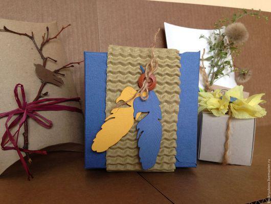 Подарочная упаковка ручной работы. Ярмарка Мастеров - ручная работа. Купить Подарочная упаковка. Handmade. Синий, подарочная коробка