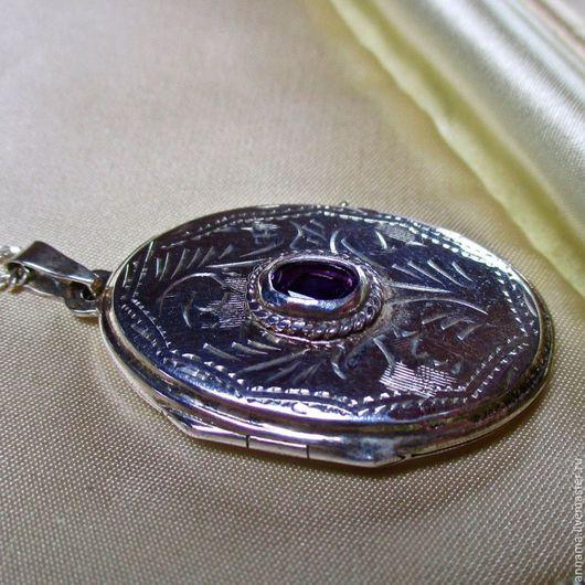 Для украшений ручной работы. Ярмарка Мастеров - ручная работа. Купить Медальон Королевский Аметист-2 серебро 925. Handmade.