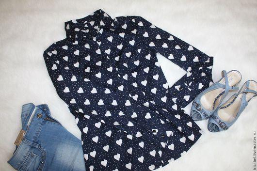 Блузки ручной работы. Ярмарка Мастеров - ручная работа. Купить Стильная рубашка. Handmade. Комбинированный, рубашка из хлопка, молодежный стиль