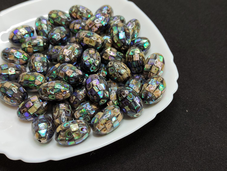 Haliotis Paua Beads Mosaic Oval 21h14mm, Beads1, Bryansk,  Фото №1