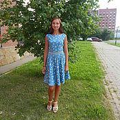 Одежда ручной работы. Ярмарка Мастеров - ручная работа Хлопковое платье в мелкий цветочек. Handmade.