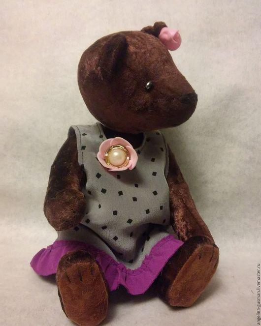 Мишки Тедди ручной работы. Ярмарка Мастеров - ручная работа. Купить Мишка - тедди Лелечка. Handmade. Коричневый, медведь, плюш