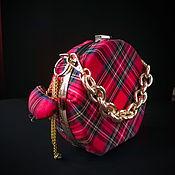 Классическая сумка ручной работы. Ярмарка Мастеров - ручная работа Сумочка из шотландской клетки Англичанка. Handmade.