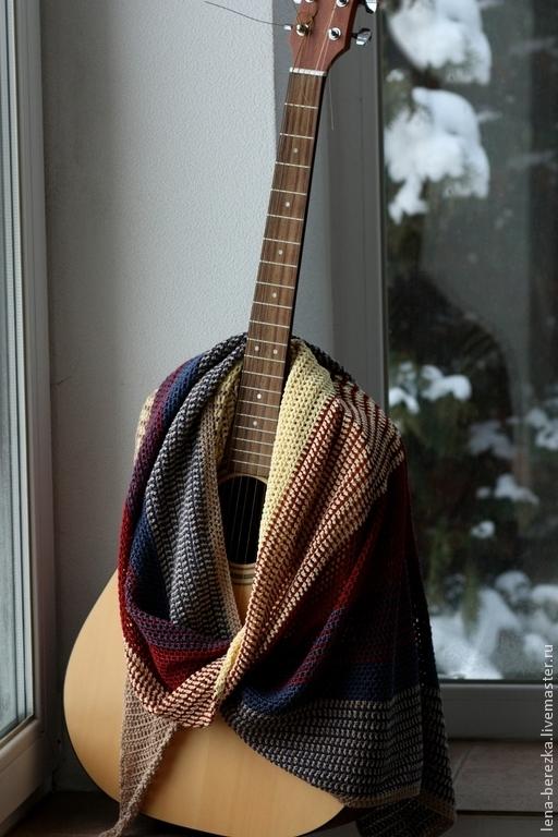 Шали, палантины ручной работы. Ярмарка Мастеров - ручная работа. Купить Шаль-платок в спортивном стиле. Handmade. Шаль