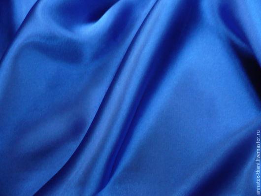 Атлас стрейч - цвет синий