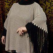 Одежда ручной работы. Ярмарка Мастеров - ручная работа пончо с кистями. Handmade.