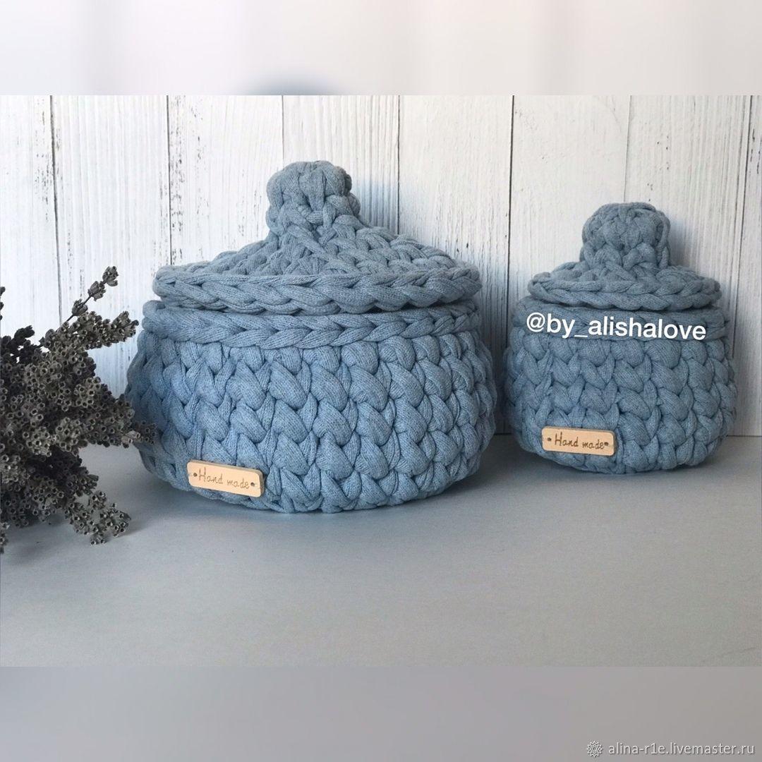 Baskets of knitted yarn 2 PCs, Basket, Orel,  Фото №1