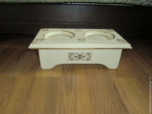 Мебель ручной работы. Ярмарка Мастеров - ручная работа. Купить Подставка под миски для собак или кошек. Handmade. Бежевый