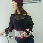 Одежда handmade. Livemaster - original item Punto jersey de kid-mohair de seda. Handmade.