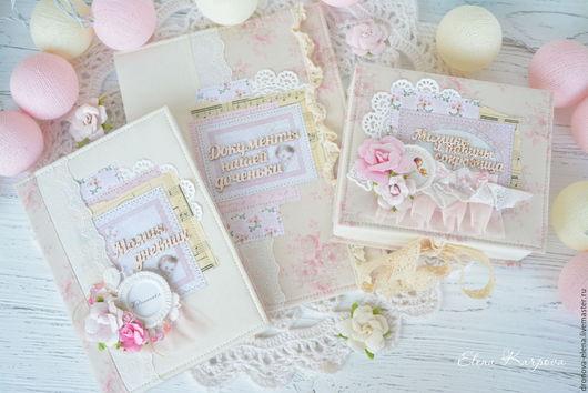 Подарки для новорожденных, ручной работы. Ярмарка Мастеров - ручная работа. Купить Шебби комплект для маленькой принцессы. Handmade. Бледно-розовый