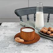 Посуда handmade. Livemaster - original item Coffee steam from the Siberian Cedar (Cup saucer) NC20. Handmade.