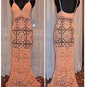 Одежда ручной работы. Ярмарка Мастеров - ручная работа Персиковый сарафан в пол. Handmade.