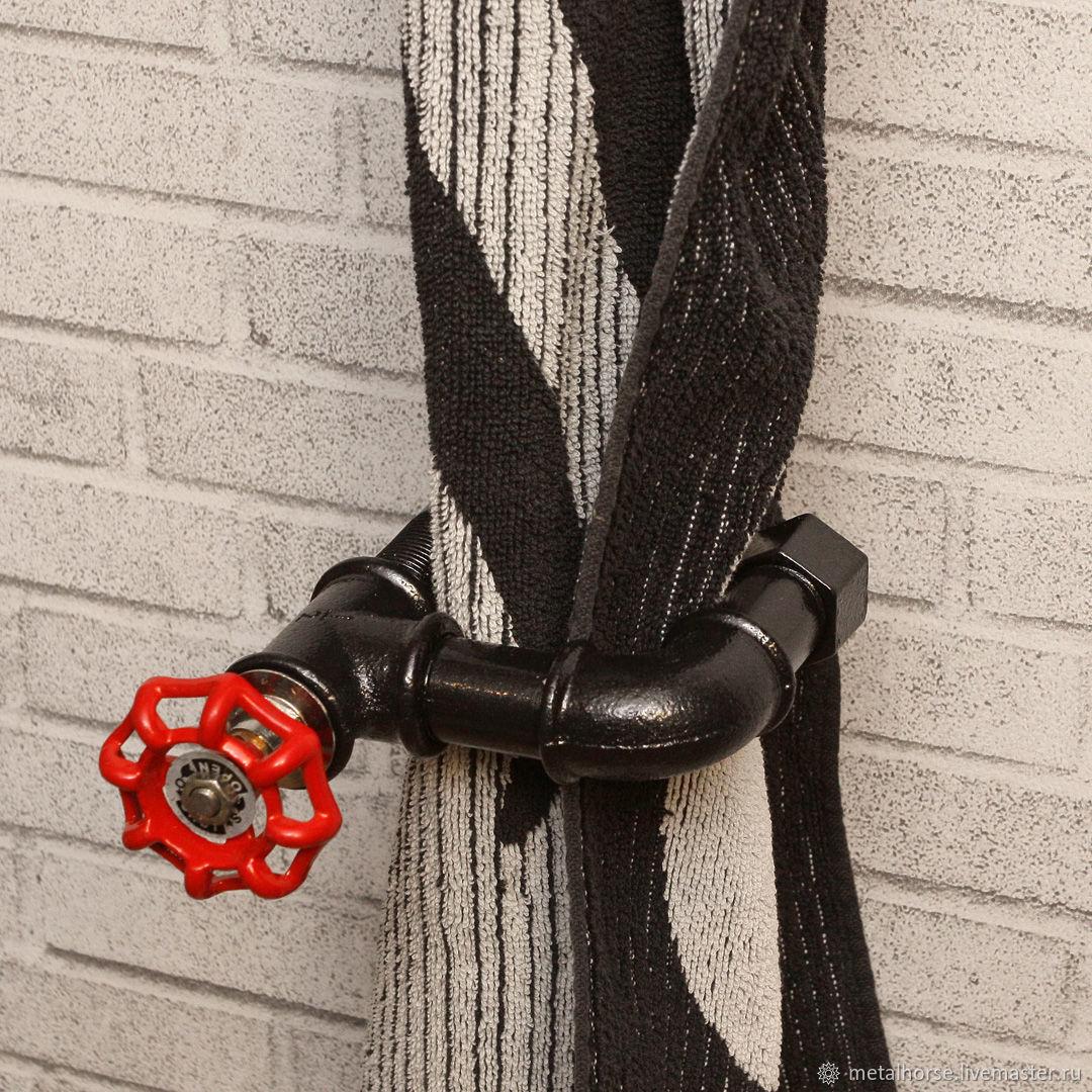 Держатель шторы для ванной в стиле лофт, индастриал, стимпанк, ретро, Шторы, Москва,  Фото №1