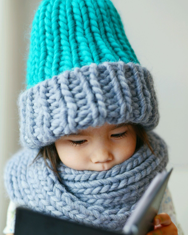 шапки крупной вязки фото