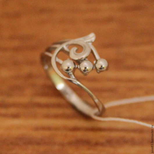 Кольца ручной работы. Ярмарка Мастеров - ручная работа. Купить Серебряное кольцо Калина, серебро 925. Handmade. Серебряный, колечко
