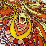Для дома и интерьера ручной работы. Ярмарка Мастеров - ручная работа Витраж жар-птица. Картина на стекле. Handmade.