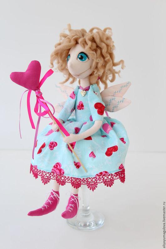 Куклы тыквоголовки ручной работы. Ярмарка Мастеров - ручная работа. Купить Фея любви. Handmade. Голубой, подарок на день рождения