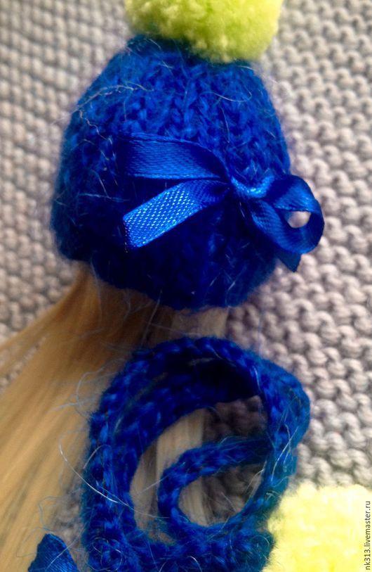 """Одежда для кукол ручной работы. Ярмарка Мастеров - ручная работа. Купить Шапочка с париком """"Синяя"""". Одежда для кукол. Handmade. Синий"""