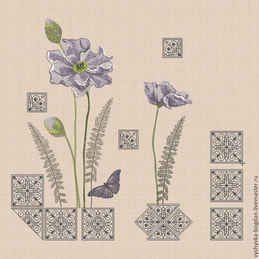 """Дизайны машинной вышивки набор """"Винтажный этюд"""" легкое заполнение, Patterns for embroidery, Ivano-Frankivsk,  Фото №1"""