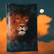 Канцелярские товары handmade. Livemaster - original item Passport cover lion zodiac Sign King of beasts. Handmade.