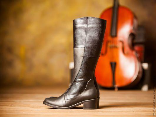 Обувь ручной работы. Ярмарка Мастеров - ручная работа. Купить Сапожки. Handmade. Черный, удобная обувь, качественная обувь