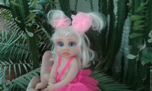 Миниатюра ручной работы. Ярмарка Мастеров - ручная работа. Купить ...Машулька...... Handmade. Бежевый, малышка, кукла интерьерная, забавная кукла