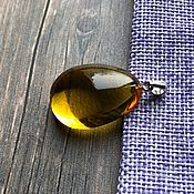 Украшения handmade. Livemaster - original item Amber. Pendant amber in silver. Handmade.