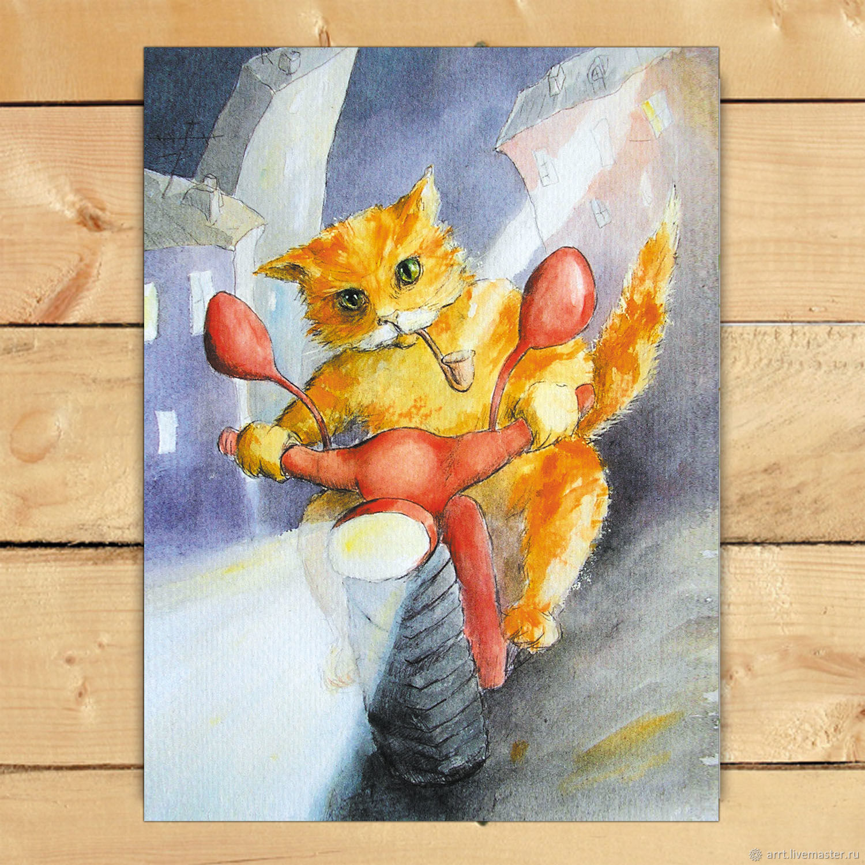 Matakot Postcard or a poster Gift for a biker, Cards, St. Petersburg,  Фото №1