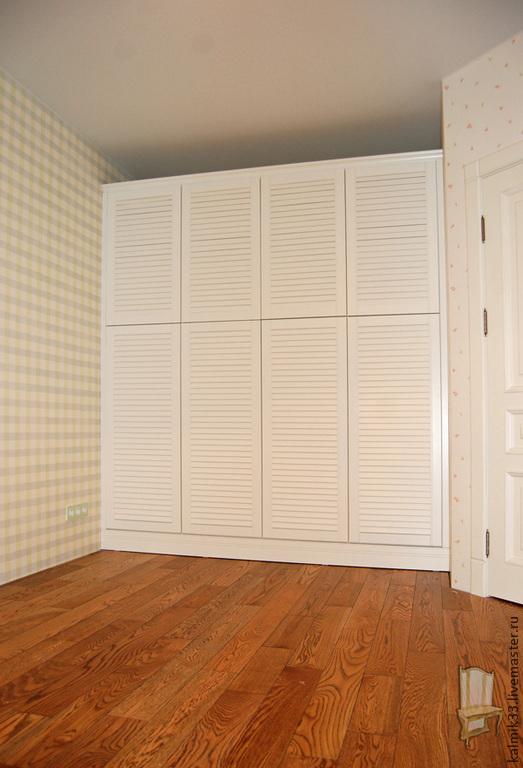 Мебель ручной работы. Ярмарка Мастеров - ручная работа. Купить Шкаф белый с жалюзийными фасадами. Handmade. Белый, фурнитура, лдсп