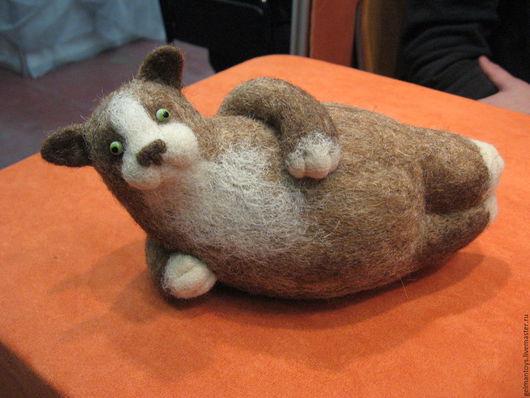 Игрушки животные, ручной работы. Ярмарка Мастеров - ручная работа. Купить Котик-лежебока. Handmade. Коричневый, игрушечный кот