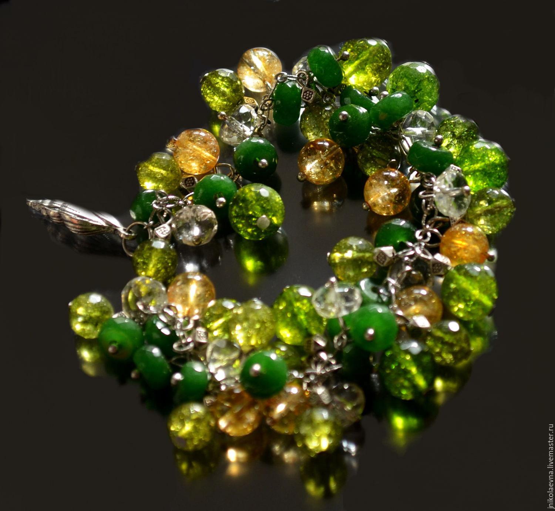 Олеся Браслет из натуральных камней, Браслет из бусин, Подольск,  Фото №1