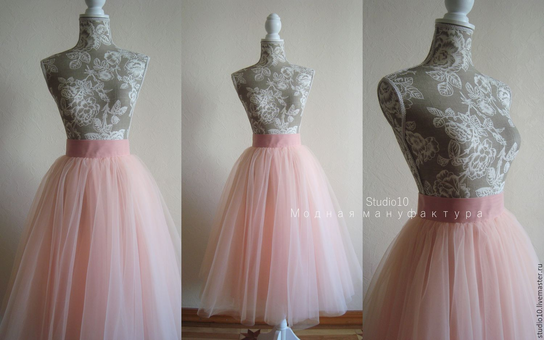 Купить розовую юбку из фатина