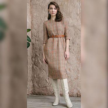 Одежда ручной работы. Ярмарка Мастеров - ручная работа Платье из шерстяного твида. Handmade.