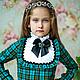 Одежда для девочек, ручной работы. Ярмарка Мастеров - ручная работа. Купить Платье Альбертина. Handmade. Морская волна, платье коктейльное