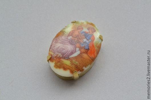 Для украшений ручной работы. Ярмарка Мастеров - ручная работа. Купить Крупный винтажный страз 25х18 мм цвет Fragonard. Handmade.