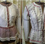 Одежда ручной работы. Ярмарка Мастеров - ручная работа Жакет - Листопад. Handmade.