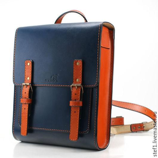 Рюкзаки ручной работы. Ярмарка Мастеров - ручная работа. Купить Кожаный рюкзак Ранец. Handmade. Сумка, сумка мужская, к школе