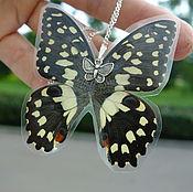 Украшения ручной работы. Ярмарка Мастеров - ручная работа Кулоны из настоящих бабочек. Handmade.