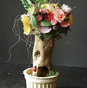 Для дома и интерьера ручной работы. Ярмарка Мастеров - ручная работа Дерево счастья,флористическая композиция в нтерьер. Handmade.