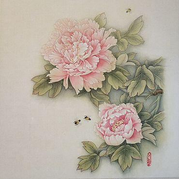 Картины и панно ручной работы. Ярмарка Мастеров - ручная работа Картина Утро в стиле китайской живописи гунби. Handmade.