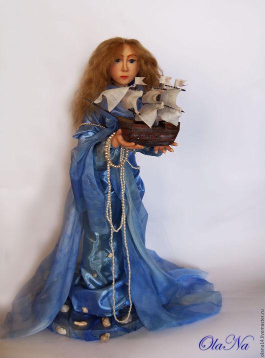 Коллекционные куклы ручной работы. Ярмарка Мастеров - ручная работа. Купить Авторская кукла «Повелительница морей». Handmade. Коллекционная кукла
