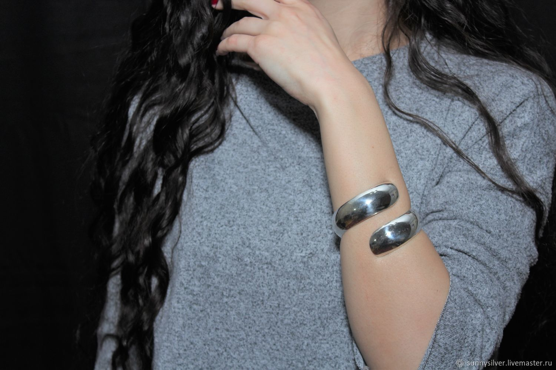 Minima Series Curl bracelet in polished silver ASH0008, Cuff bracelet, Yerevan,  Фото №1