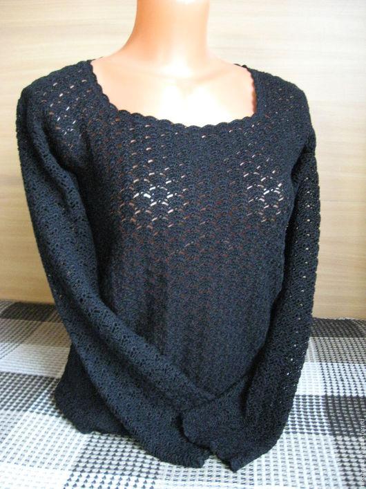 Блузки ручной работы. Ярмарка Мастеров - ручная работа. Купить Блуза Черное кружево. Handmade. Черный, блузка из хлопка