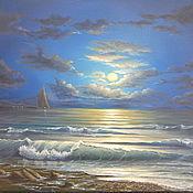 """Картины и панно ручной работы. Ярмарка Мастеров - ручная работа картина """"в свете луны"""". Handmade."""