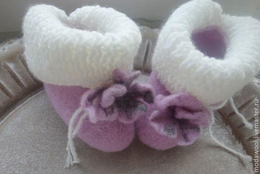 Детская обувь ручной работы. Ярмарка Мастеров - ручная работа. Купить Пинеточки для вашей Крошки. Handmade. Розовый, пинетки детские